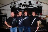 Bandfoto vor dem Auftritt Hagener Kirmes